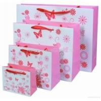 China Delicately Pink Hnadle Paper Bag for Shopping , Printing Gift Paper Bag wholesale