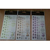 China 48 styles metallic adult temporary tattoos body bling for girls wholesale