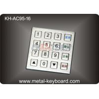 China Industrial Numeric Keypad 4 X 4 Matrix , IP 65 Water - proof Keypad wholesale