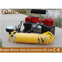 China Double-Cylinder Car inflatable Pump 12V Portable Air Compressor Tire Inflators Tool wholesale