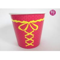 China Single Wall Disposable Take Away Paper Plant  Pot Red Color 34 Ounce wholesale
