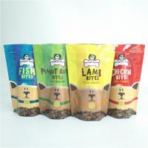 China Dog Treat Storage Pet Food Bag  Laminated Plastic Reusable Vacuum Organic Pouch wholesale
