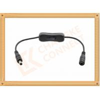 China 12V DC Male to Female Custom Cable Assembly With Switch On Off wholesale