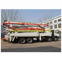 China Concrete Pump Trailer 48m boom with HOWO chassis and ISO / BV wholesale