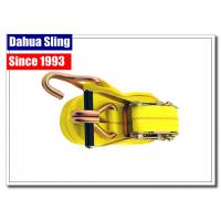 Self Tightening Cargo Ratchet Straps Enclosed Trailer Tie Downs With Yellow Webbing