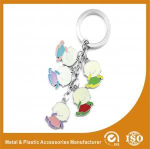 China Baby Shape Drop Personalised Engraved Keyring / Customised Key Chains wholesale