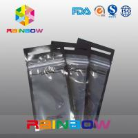 China See Through Logo Printing Headset / Earphone Packaging Bags / Pouch With Ziplock wholesale
