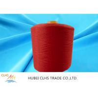China High Tenacity 100% Dyed Polyester Yarn Low Shrinkage Red For Sewing Thread wholesale