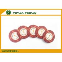 China Casino Quality Custom Clay Poker Chips With Two Side Stickers on sale