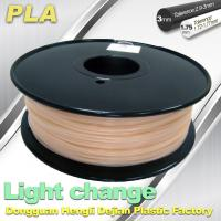 China Light Change ABS 3D Printer Filament 1.75mm / 3.0mm Filament For 3D Printing wholesale