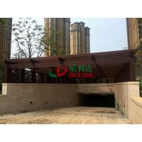 China Wood Plastic Composite Garden Pergola Kits Roof For Parking Lot Underground Entrance wholesale