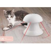 China 360 Degree Plastic Automatic Pet Laser Toy , White Interactive Laser Cat Toy With Battery wholesale
