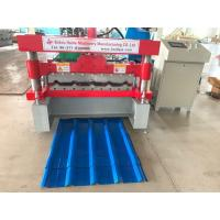 China PLC Delta Metal Sheet Roof Sheet Roll Forming Machine Feeding Width 915mm wholesale