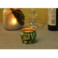 China Eco Friendly Tin Candle Holders Anti Thermal Candle Wax Shock Resistant wholesale