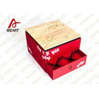 China Fabric & Die Cut Handle Recycled Paper Gift Box Small Size 110 * 50 * 190mm on sale