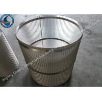 China Reverse Support Rod Rotary Screen Drum Stainless Steel With Falt Iron on sale
