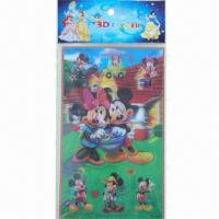 China Lenticular Stickers, 3D Hologram Sticker, Available in Various Sizes and Colors, Easy to Apply wholesale