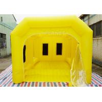 China 6 M Yellow Inflatable Spray Booth / Automotive Paint Booths Two Air System wholesale