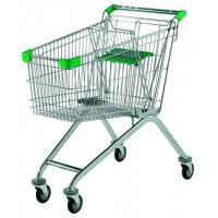 China Indoor / Outdoor Supermarket Shopping Trolley Customizable Color With Child Seat wholesale