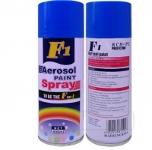 China Acrylic 400ML F1 Black Color Spray Paint 65*200mm wholesale