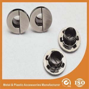 China 13.5MM Half North Shape Eyelet Plating Nickle Free Brushed Gunmetal Zinc Eyelets wholesale