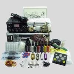 China Complete Tattoo Kit 2 Machines Gun color Inks Power supply needles equipment set wholesale