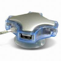 China 4-port USB 2.0 Hub with 480Mbps High-speed Data Transfer Rate wholesale