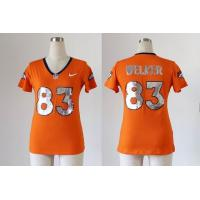 China NFL Broncos 83 Welker Women's Handwork Sequin lettering Fashion jersey wholesale