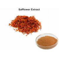 Buy cheap Safflower Natural Plant Extracts 4% Powder Carthamin Preventing Atherosclerosis from wholesalers