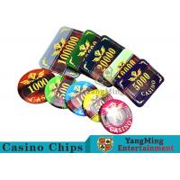 Texas Poker Plastic 760 Pcs Chip Set France Acrylic Casino Dedicated Chips for sale