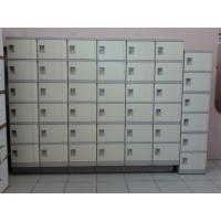 China 4 Comparts 1 Column Primary School Lockers Beige , Cool School Lockers For Staff Rooms wholesale