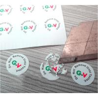 China High Brittle White Security Labels Stickers Strong Adhesive Difficult Remove For Screw wholesale