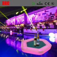 Buy cheap Plastic Outdoor Amusement Equipment Illuminated Flaoting Playing Card Table For Water Party from wholesalers