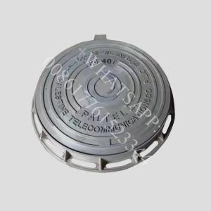China D400 EN124 850X850 ductile iron black sand casting  manhole cover wholesale