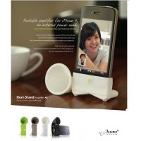 China Silicone musical horn,silicone speaker used for iphone wholesale