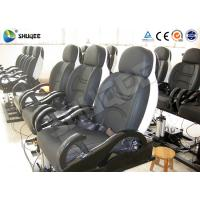 China Fiberglass 5D Electronic Cinema Motion Chair Genuine Leather With Spray Air wholesale