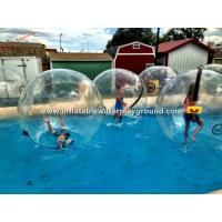 China Crystal Clear Water Walking Ball Inflatable Water Bubble Ball , Human Sized wholesale