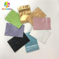 China Full Color Aluminum Foil Pouch Packaging Ziplock Flat 3 Side Sealed Bags wholesale