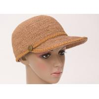 China 58cm Childrens Sun Hats With Raffia Crochet Braid Brim For Daily Leisure on sale
