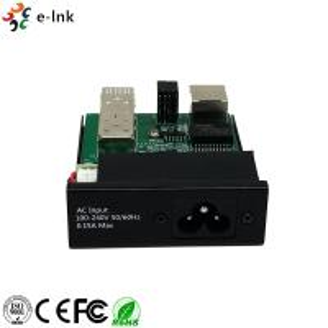 Quality Lightweight Black Color Fiber Ethernet Media Converter Extremely Low Power for sale