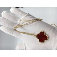 China 18k Gold Chain Necklace With Carnelian , Simple Gold Necklace No Diamond wholesale
