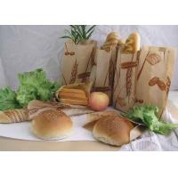 China Oilproof Stand Up Kraft Customized Paper Bags For Bread / Hamburger With Logo wholesale