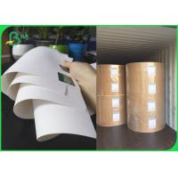 China FSC Bleached Kraft Paper Rolls 36inch 80gsm 120gsm White Wrapping Paper on sale