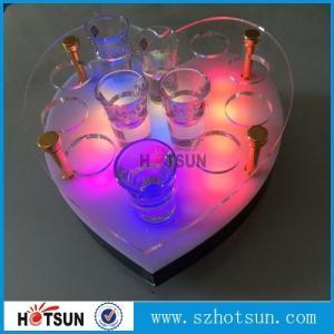 Quality Acrylic Wine Glass Tray Holder/ led acrylic shot glass tray,Acrylic Shot glass for sale