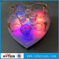 Quality Acrylic Wine Glass Tray Holder/ led acrylic shot glass tray,Acrylic Shot glass Holder Tray, Shot Glass Serving Tray for sale