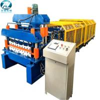 Roof Panel Glazed Tile Roll Forming Machine / Former Machine with 5.5kw motor