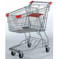 China Portable Wheeled Shopping Trolley 125L Rolling Basket Carts With Wheels on sale