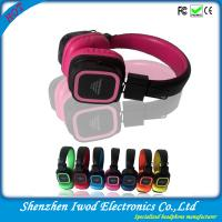 China 2014 wholesale shenzhen factory bulk colorful wireless headphone with FM function for mobile cell phone wholesale
