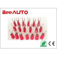 China SV1.25-4 Precision Fork Crimp Terminals , Spade Solderless 6 Awg Fork Terminal For 8 Wire wholesale