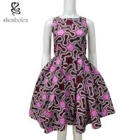 China Sleeveless African Print Dresses After Back Bowknot Hollow Out For Women wholesale